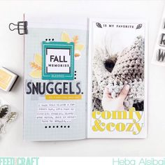 FTC CT gal @hebaalsibai created this wonderful layout using the Autumn Vibes and Atlas Alphabet stamp sets and Bingeable TN paper pack!… Notebook Ideas, Notebook Paper, Alphabet Stamps, Crafty Projects, Stamp Sets, Travelers Notebook, Project Life, Bujo, Notebooks
