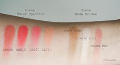 eL Beauty Blog: Zoeva Rose Golden Blush palette, Zoeva Coral Spectrum Rouge palette - recenze, swatches