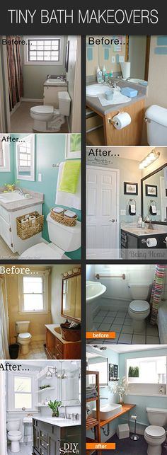 Got a tiny bath? Chances are, it's ready for a makeover. These bloggers have taken their tiny bathrooms and made them A.M.A.Z.I.N.G! Follow along with their DIY bathroom before and afters, and then plan to do one of these tiny bath makeovers! You can do this!