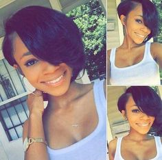 Bobs and weaves are extremely in trends lately. Here we have rounded up Super Bob Weave Hairstyles that will make you want a bob! Check these trendy hair. Weave Hairstyles, Pretty Hairstyles, Amazing Hairstyles, Smart Haircut, Short Hair Cuts, Short Hair Styles, Pixie Styles, Pixie Cut Kurz, Pixie Cuts