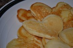 Valentine's Day Heart Pancakes Heart Shaped Pancakes, Valentines Day Hearts, Heart Shapes, Favorite Recipes, Breakfast, Food, Morning Coffee, Essen, Meals