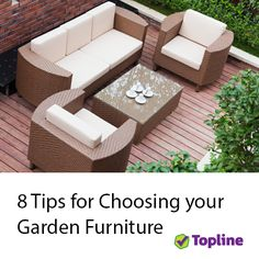 Let us help you choose your new garden furniture.