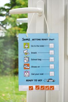 visual support check list-->Getting ready to go chart - digital download