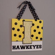 Iowa Hawkeyes Door Hanger by KimmyKays on Etsy