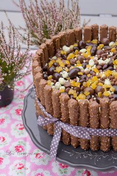 PASTEL DE CHOCOLATE Y AVELLANAS CON BUTTERCREAM DE NARANJA. Los cerezos en flor: Celebration Cake y las Cooking Challenge!!!