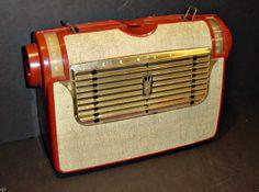 Uncommon Vintage 1953 Zenith 5J41 J504 Portable Tube Radio Working Unmolested | eBay