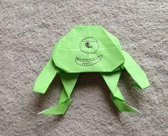 """折り紙 モンスターズインク マイク 折り方 作り方 """"Monsters, Inc"""" Mike Wazowski origami"""