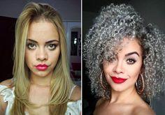 Nina Gabriella   10 antes e depois que vão te incentivar se você está em transição capilar