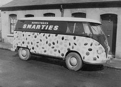 Vintage Smarties VW B&W #volkswagen bus #vwbus   pinned by www.wfpcc.com