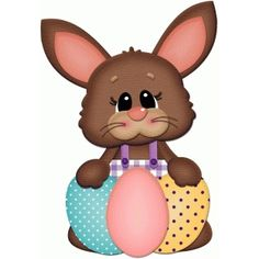 Silhouette Design Store: easter bunny w 3 colored eggs pnc