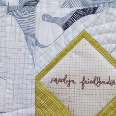 New project peek--I've always loved a signature quilt, which is why one of my new patterns is the perfect opportunity for it.  And, I'm obsessed with cursive again... #envelopequilt #carkaifabric #sewingisfun
