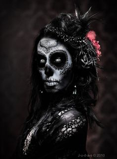 Day of the dead art. Sugar Skull makeup #skulls