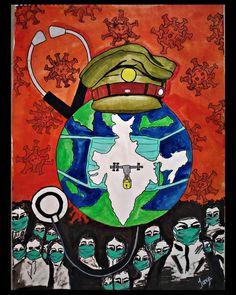 Artist - Tanya Rastogi Title - unity to save humanity  #CoronavirusOutbreak #corona #artlovers #artchallenge