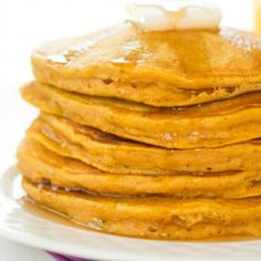 Pumpkin Pancakes Recipe | Brown Eyed Baker - I replaced 1/4 cup flour with wheat flour and it was still good. A bit hard to tell when they were done but so good with maple syrup.