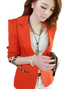 My Wonderful World Women's V-neck One Button Leopard Sleeve Blazer Medium Red My Wonderful World Blazer Coat Jacket http://www.amazon.com/dp/B016ZY5E8W/ref=cm_sw_r_pi_dp_qR1kwb0SRS3KT