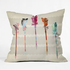 Iveta Abolina Feathered Arrows Throw Pillow | DENY Designs Home Accessories