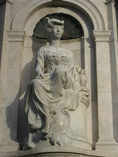 Detail of Marble Statue of Wisdom; Queen Victoria Memorial - Melbourne