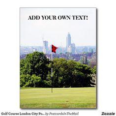 Golf Course London City Portrait Postcard