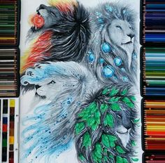 Watercolor pencils by Finland Artist Jonna Scandy Girl