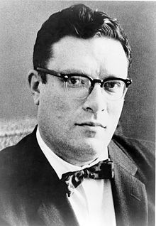 """Besides being totally hot in this portrait, Asimov was a long-time member and Vice President of Mensa International, albeit reluctantly; he described some members of that organization as """"brain-proud and aggressive about their IQs.  He took more joy in being president of the American Humanist Association.  :)"""