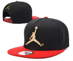 Mens Air Jordan The Jumpman Iron Gold Metal Logo A-Frame 2016 Big Friday Deals Snapback Cap - Black / Red