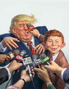 Caricature by Mark Fredrickson Cartoon Faces, Funny Faces, Cartoon Art, Trump Funny Face, Funny Caricatures, Celebrity Caricatures, Political Art, Political Cartoons, Funny Memes