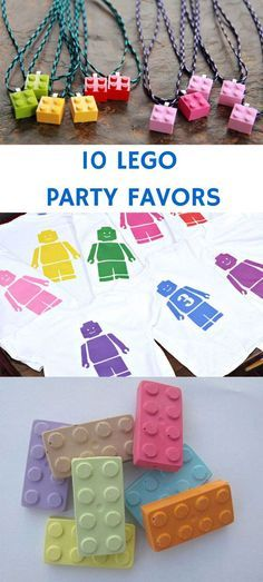 10 PARTY FAVOR IDEAS FOR KIDS LEGO PARTY from http://www.hellowonderful.co/post/10-LEGO-PARTY-FAVORS