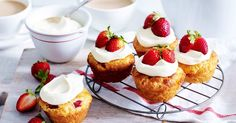 For the perfect afternoon treat, try one of these delicious strawberry scone cakes.