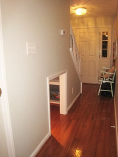 great idea! playroom under the stairs