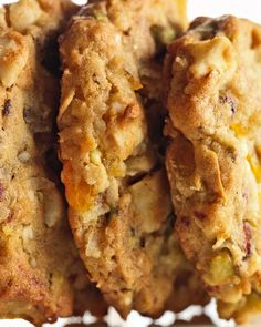 *Mixed Fruit-and-Nut Cookies. These are a Christmas baking staple in my home and they're not always the same because I'll alter the type of fruit and nuts added.