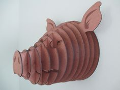 Large Pig Head by HeadsOnAWall on Etsy