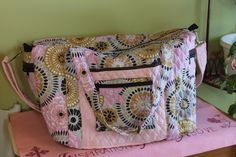 Travel tote by Chrispurses on Etsy