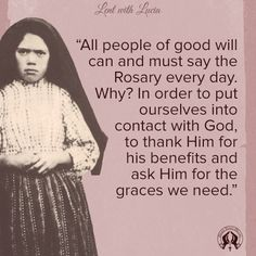 The Rosary makes possible an intimate relationship with God - Our Lady's Blue Army - World Apostolate of Fatima U. Catholic Quotes, Catholic Prayers, Religious Quotes, Catholic Saints, Roman Catholic, Rosary Quotes, Saying The Rosary, Early Church Fathers, Lady Of Fatima