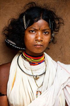 Portrait of a Dongria Kondh woman from a small village in the Niayamgiri Hills, near Chatikona, India. Photo by Kimberley Coole We Are The World, People Around The World, We The People, Tribal People, Tribal Women, Tribal Group, Mother India, Indian People, Namaste