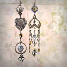 asymmetrical earrings - Google Search