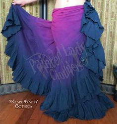 """Grape Fusion"" 25 Yard Petticoat Skirt  You can order yours here:  http://www.paintedladyemporium.com/Shop-Here.html"