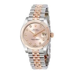 Rolex Datejust Lady 31 Pink Dial Stainless Steel and 18K Everose Gold Rolex Jubilee Automatic Watch 178271PDJ * You can get additional details at the image link.