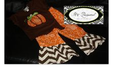 Fall Chevron/Circles Pumpkin Outfit by ItsPersonalBoutique on Etsy, $45.00