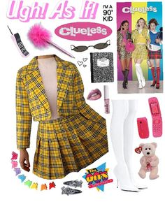 Clueless - Cher (Halloween Costume) Outfit - Real Time - Diet, Exercise, Fitness, Finance You for Healthy articles ideas Cher Clueless Costume, Clueless Fashion, Clueless Outfits, 90s Fashion, Fashion Outfits, Tai Clueless, Cher Costume, Clueless Quotes, Clueless 1995