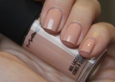 MAC Myth .. another perfect wedding polish color, Click for review and swatches