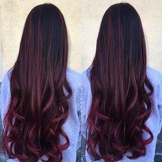 Red wine balayage  #hair #haircut #hairking #hairlove #hairporn #hairpost #haircolor #hairstyle #hairtip #hairbydoug #hairbrained #hairstylist #balayage #balayagecolor #ombre #ombrehair #salon5150 #brea #trim #healthy #long #beautiful #modernsalon #btcpics #behindthechair #dougoconnell #angelofcolour #hairdressermagic #americansalon