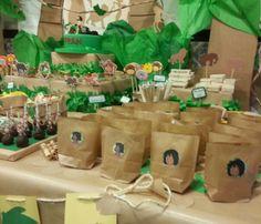 Diseño y decoración de eventos # sevilla # cumpleaños # libro de la selva# bolsitas personalizadas de snacks