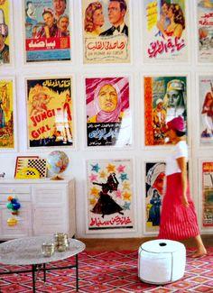 displaying vintage posters!