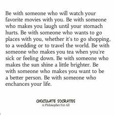 I am with someone who...