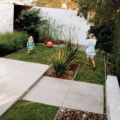 modern + kid-friendly backyard