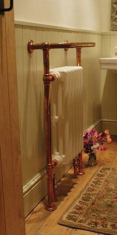 Broughton Towel Rail (Copper Finish) in period home