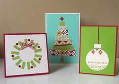 homemade christmas cards out of scrap wrapping paper