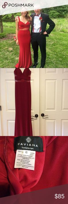 JOVANI sexy red gown Worn once! Beautiful! Would highly recommend for any kind of prom, gala, ball etc. Only damage is a small amount of pilling along the bottom but if you have it hemmed it would be gone. Jovani Dresses Prom