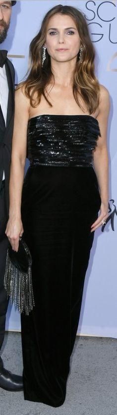 OutfitID – Page 2 – The user generated fashion dictionary of what celebrities wore and where to get it. Keri Russell Style, Fashion Dictionary, Black Strapless Dress, Alexandre Vauthier, Black White Red, Celebs, Celebrities, Glamour, Actresses