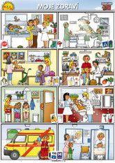 Poprokan.cz :: Tematické výukové obrazy Health Activities, Activities For Kids, Crafts For Kids, Kindergarten, Community, Baseball Cards, Comics, Sport, Tela